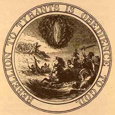 Benjamin Franklin Great Seal of USA Sepia